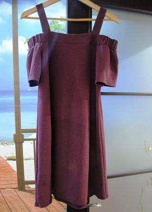 Шикарное платье new look s m бордо бургунд марсала