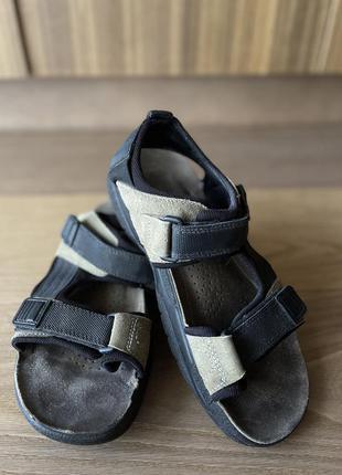 Мужские коричневые и чёрные босоножки сандалии на липучках