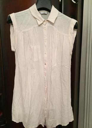 Идеальная блуза удлиненная 100% вискоза