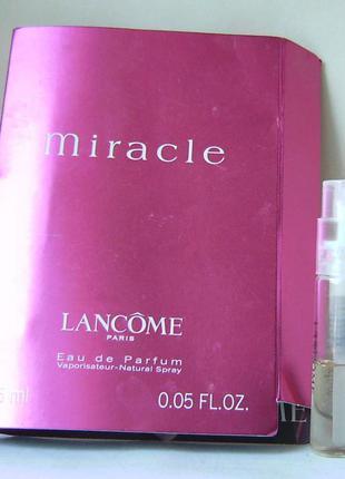 Пробник - lancome miracle - edp - 1.5 мл. оригінал. (spray) вінтаж