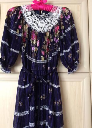 Платье в пол макси 34-40