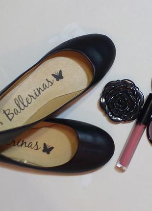 Черные балетки для девочки 36 размер