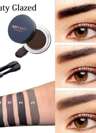 🔥😃#01 водостойкий гель для бровей beauty glazed waterproof eyebrow gel