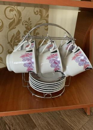 Сервиз ,чайный сервиз ,чашки ,тарелки ,набор посуды
