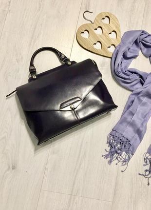 Деловая сумка-портфель wanlima темно-фиолетовая,бренд