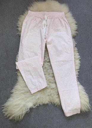 Домашние пижамные штаны низ розовые натуральный хлопок