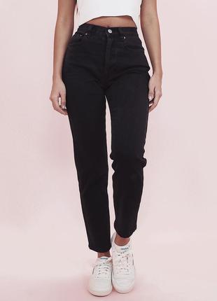 Чёрные джинсы lee с высокой посадкой оригинал