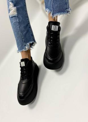 Кроссовки из натуральной кожи
