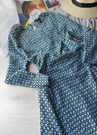 Платье свободного фасона в принт h&m