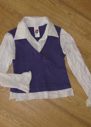 Блузка-обманка на 9 лет/рост 134