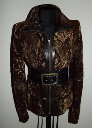 Кожаная куртка натуральная шуба мутон