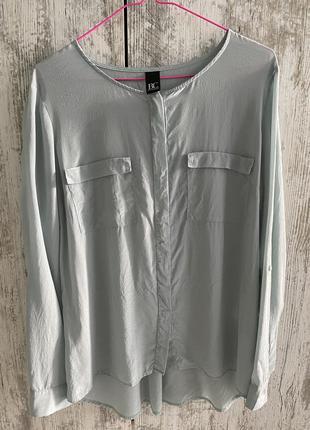 Блуза рубашка b.c. 100% шелк