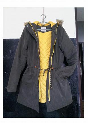 Cупер парка куртка теплая only размер м
