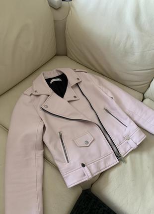Кожаная курточка mango косуха, искусственная кожа.