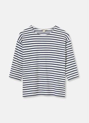 Супер трендовый  оверсайз джемпер свитер свитшот в полоску полосатый
