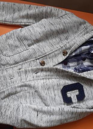 Комплект кардиган + клітчаста сорочка