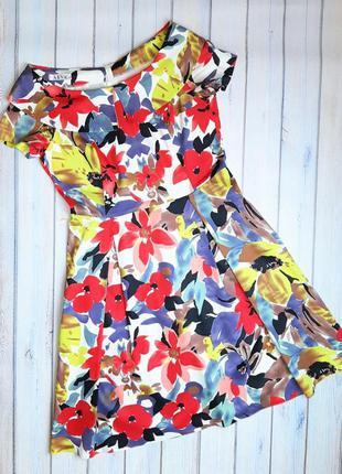 💥1+1=3 шикарное нарядное платье миди в цветах, размер 48 - 50