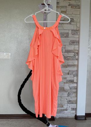 Платье с рюшами h&m, сукня