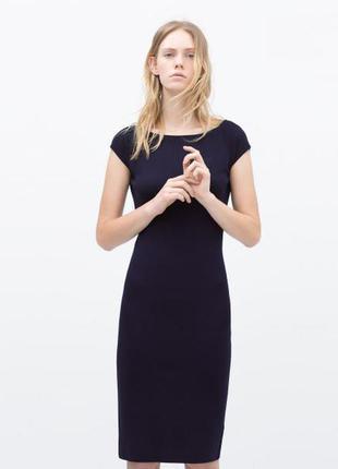 Zara трикотажное платье резинка , m-s