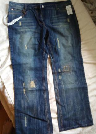 Стильные модные джинсы новые большой размер 48