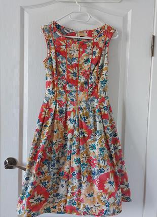 Платье в стиле ретро винтаж пинап 50-х годов