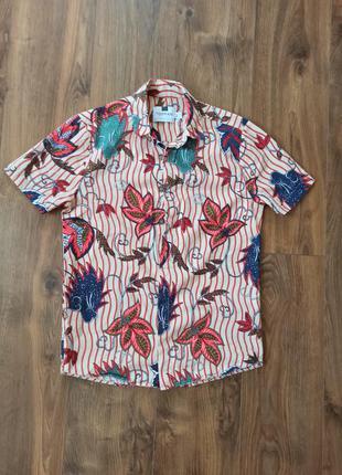 Новая хлопковая рубашка topman