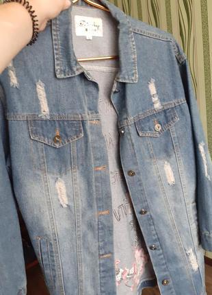 Длинная джинсовка