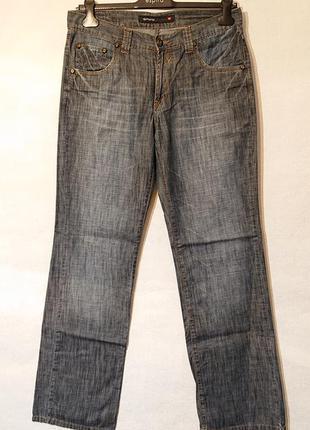 Летние женские джинсы spogi w32 l34, l наш 46-48р, тонкая ткань