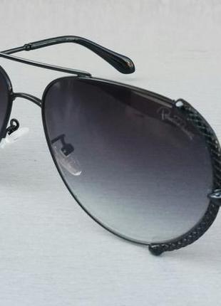 Roberto cavalli очки женские солнцезащитные черные в металлической оправе с градиентом