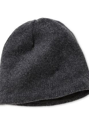 Серая вязанная шапка от тсм tchibo