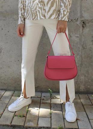 Яркая сумка кросс-боди на цепочке и ремешке