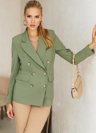 Разные цвета! пиджак женский для женщин из костюмной ткани с длинным рукавом на пуговицах двубортный хаки коричневый бежевый для офиса в деловом стиле