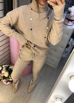 Кашемировый костюм (свитер и штаны)