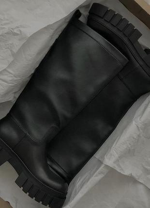 Шикарные массивные ботинки сапожки zara