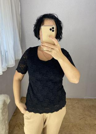 Красивая ажурная блуза футболка