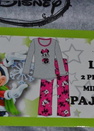 Женская пижама  disney minnie mouse флисовая размер xl
