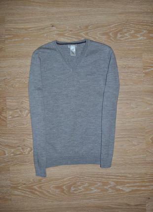 Подростковый шерстяной серый свитер реглан gap