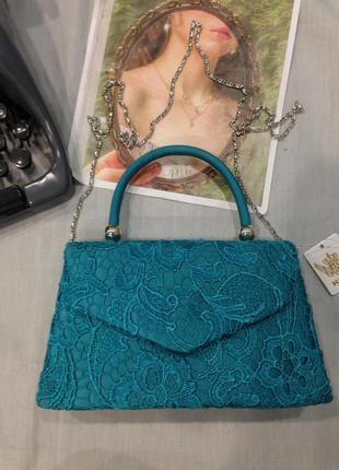 Красивая сумочка атлас с кружевом