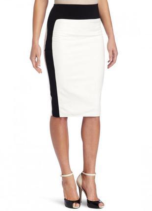 Крутая чёрно-белая юбка карандаш zara