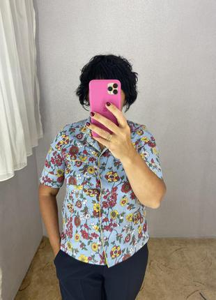 Стильная блуза рубашка в бельевом стиле