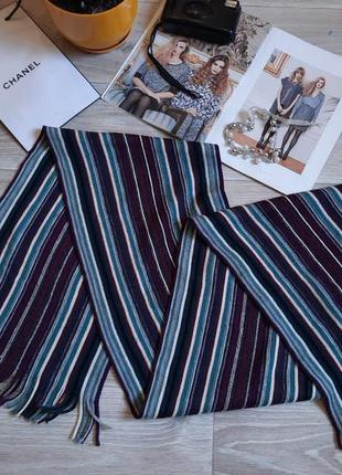 T.m. lewin дорогой стильный шарф мериносовая шерсть сток