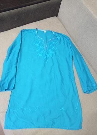 Туника блузка с вышивкой бохо р.36 в идеале