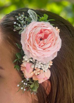 Гребінець для волосся,весільний гребінець з квітами