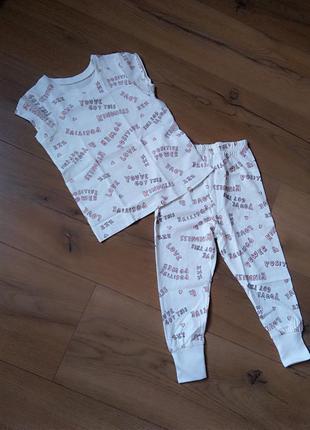 Пижамка летняя george для девочки 2-3 года с штанишками
