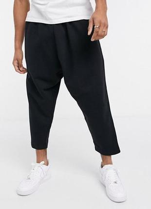 Модные укороченные трикотажные брюки-бананы.унисекс.