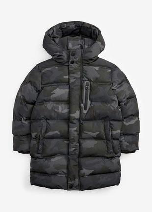 Удлиненная утепленная куртка пальто next(3-17 лет)