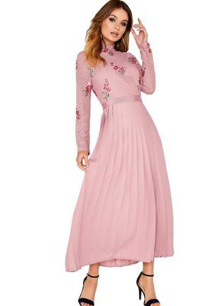 Шикарное платье плиссе 48 размер