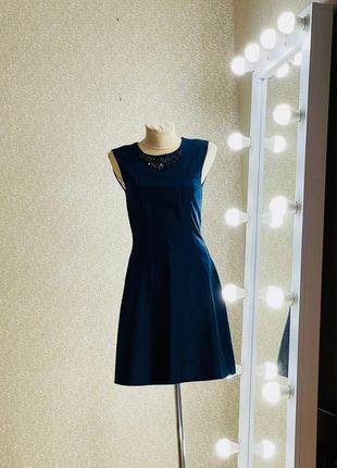Шикарное синее платье сарафан