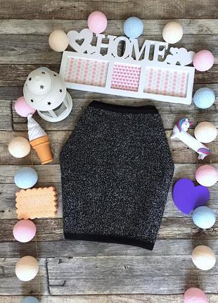Утеплённая серая юбка бренда hema