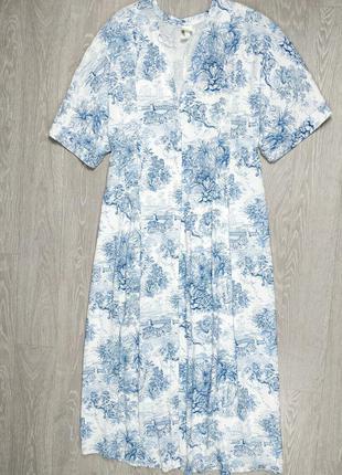 Свободное платье в принт